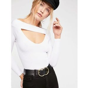 Free People Intimately Find Me Long Sleeve White